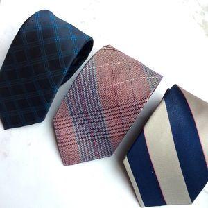 Set of 3 men's neck ties